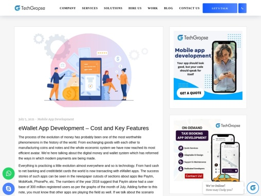 eWallet App Development – Cost and Key Features