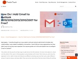 How do I add Gmail to Outlook 2019/2016/2013/2010/2007?