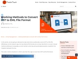 Working Methods to Convert OST to EML File Format