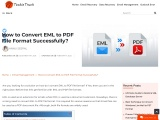 know how to Convert EML to PDF File Format?