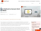 Best Method to Convert OLM to MBOX