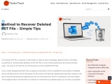 Method to Recover Deleted PST File – Simple Tips