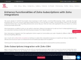 Enhance Functionalities of Zoho Subscriptions with Zoho Integrations