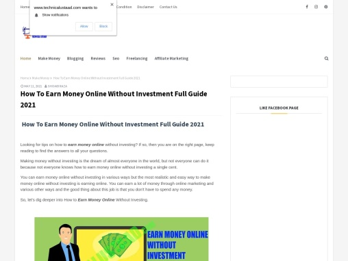 How To Earn Money Online Without Investment Full Guide 2021