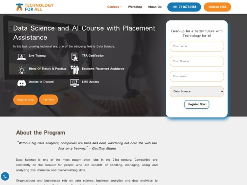 Online Data Science Course