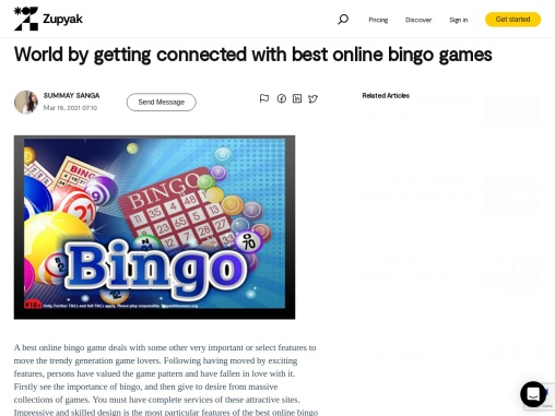 World by getting connected with best online bingo games