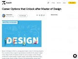 Career Options that Unlock after Master of Design