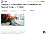 Loan Against Property Interest Rates – Understanding the Rates and Charges on Your Loan
