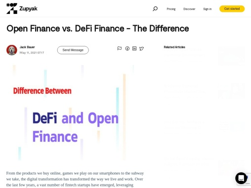 Open Finance vs. DeFi Finance – The Difference