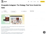 Shoppable Instagram: The Strategy That Turns Social Into Sales