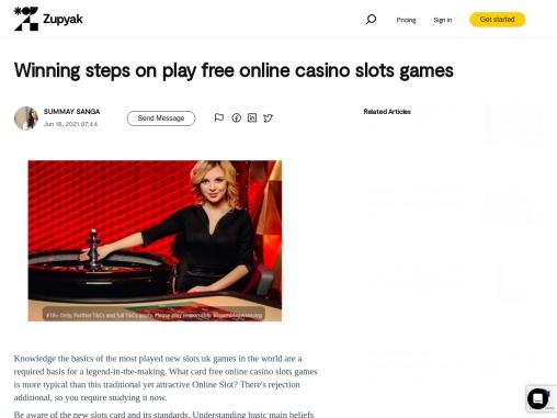 Winning steps on play free online casino slots games