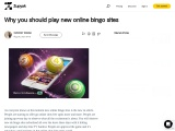 Why you should play new online bingo sites