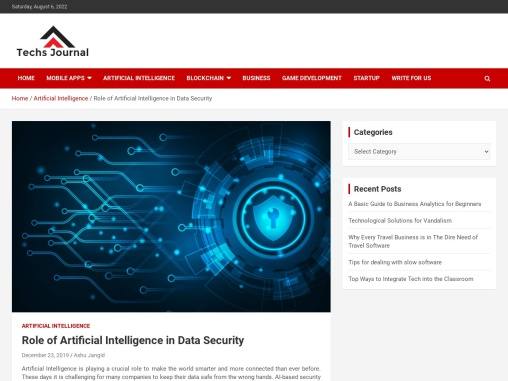 Role of Artificial Intelligence in Data Security