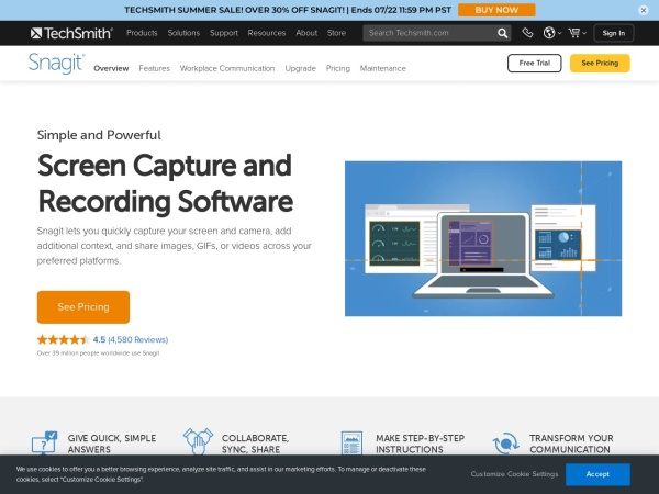 Snagit  - 10 Best Screen Recorders For Mac 2020