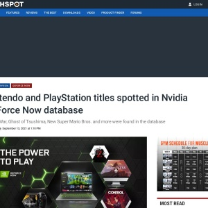 Nintendo and PlayStation titles spotted in Nvidia GeForce Now database | TechSpot