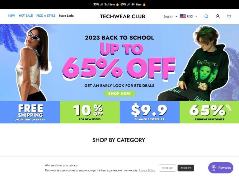 Techwear Club screenshot