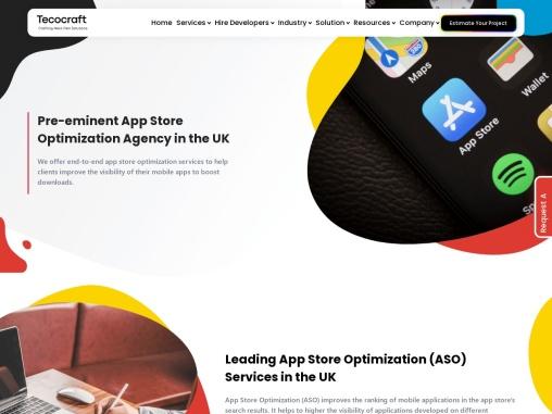 App Store Optimization(ASO) Services Company in UK – Tecocraft