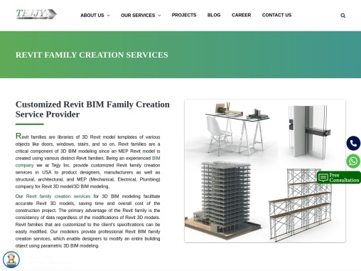 Revit architecture family creation from Tejjy Inc.