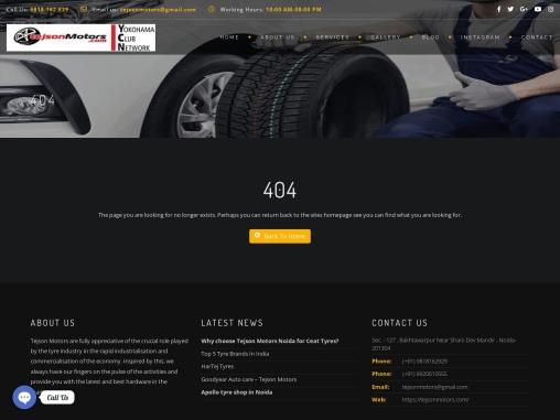 Tyre Showroom in Noida   Tejson motors