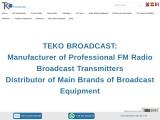 Teko Broadcast: FM RADIO TRANSMITTER
