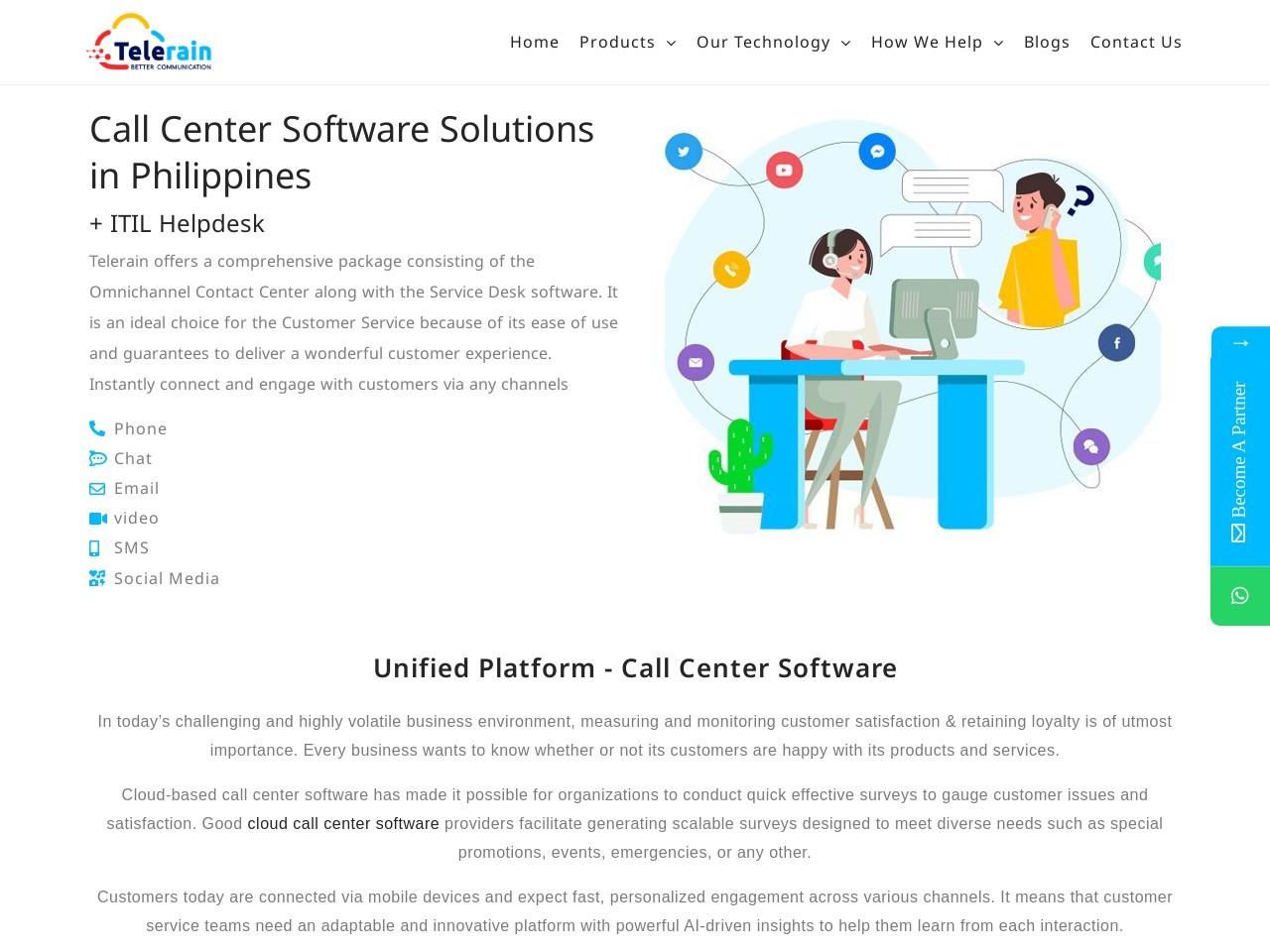 Utility Providers | Cloud Contact Center Solution | Telerain