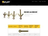 High Quality Dog Bolt with Wing Nut – Teryair.com