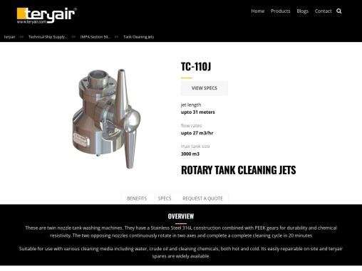 Rotary Tank Cleaning Jets Manufacturer in Mumbai, India – Teryair