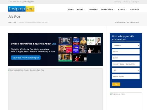 JEE Mathematics Practice Questions