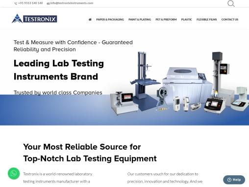 Lab Testing Instruments & Equipment Manufacturer