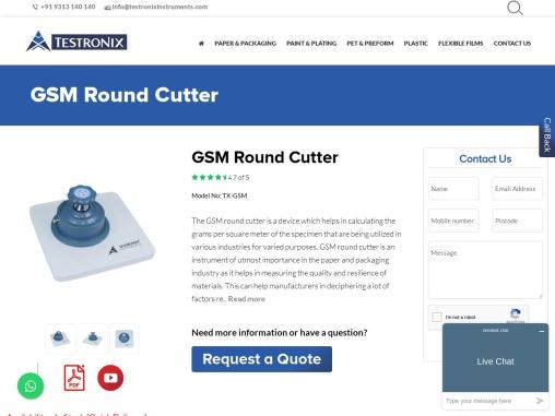 GSM Round Cutter Manufacturer in India