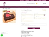Heart Shaped Truffle Love| Order Heart Shaped Truffle Love Cake online | Tfcakes