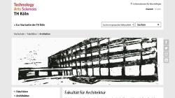 www.th-koeln.de Vorschau, TH Köln: Fakultät für Architektur