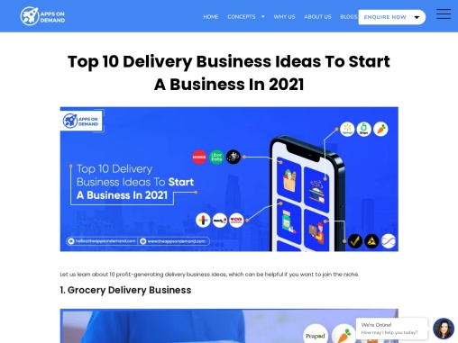 Top 10 Delivery Business Ideas To Start A Business In 2021