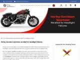 Harley Davidson Sportster Recalled For Headlight Failures