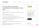 Easy Way To Facetime Chromebook (Chromebook Video Call).