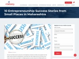 """""""10 Entrepreneurship Success Stories from Small Places in Maharashtra"""""""