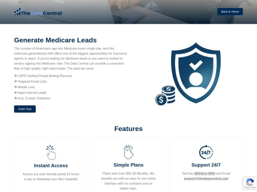 Real-time Medicare Leads – Mailing list – Email list in US | The Data Central