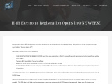 H-1B Electronic Registration Opens in ONE WEEK