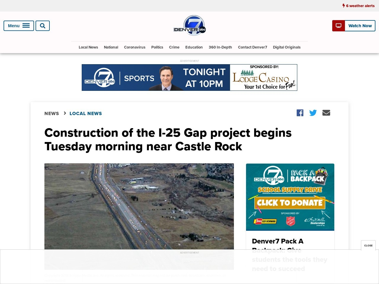 Construction of the I-25 Gap project begins