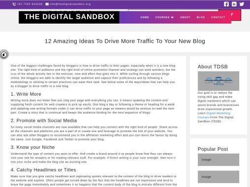 12 Amazing Ideas To Drive More Traffic To Your New Blog
