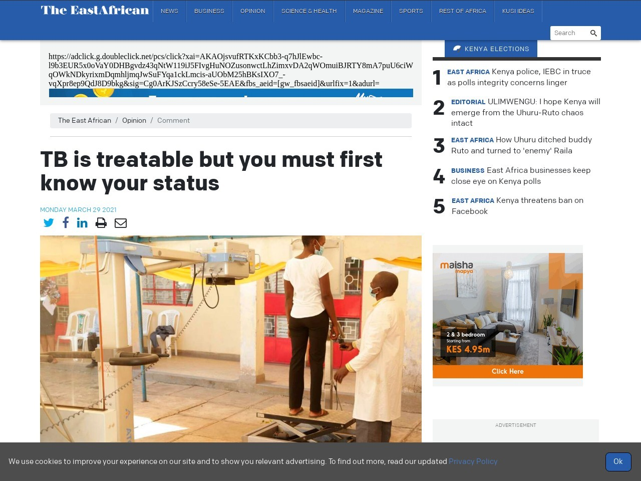 TB is treatable but you must first know your status
