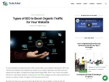 Types of SEO to Boost Organic Traffic for Your Website