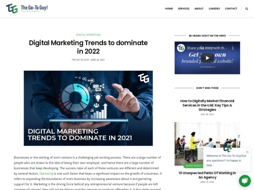 Digital Marketing Trends to dominate in 2021 | The Go-To Guy