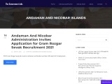 Sarkari Naukri – Latest Govt, Government Jobs in Andaman and Nicobar Islands