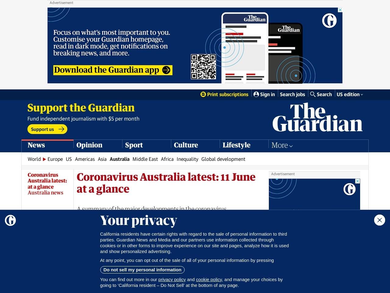 Coronavirus Australia latest: at a glance