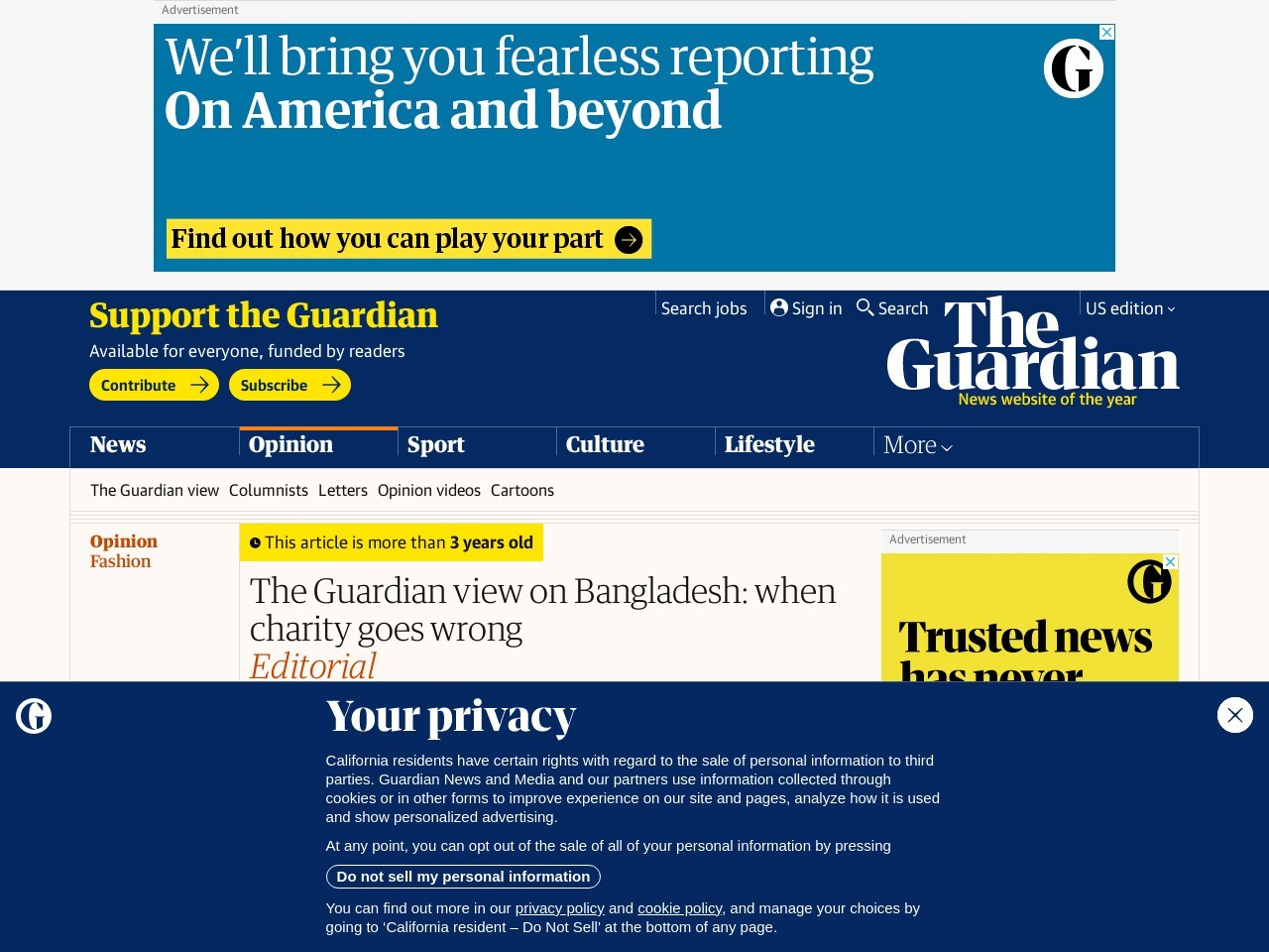 The Guardian view on Bangladesh: when charity goes wrong | Editorial