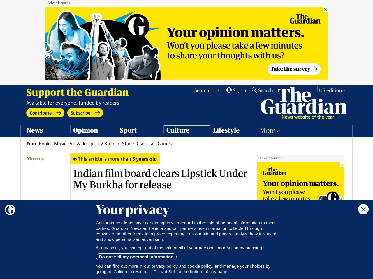 Indian film board clears Lipstick Under My Burkha for release