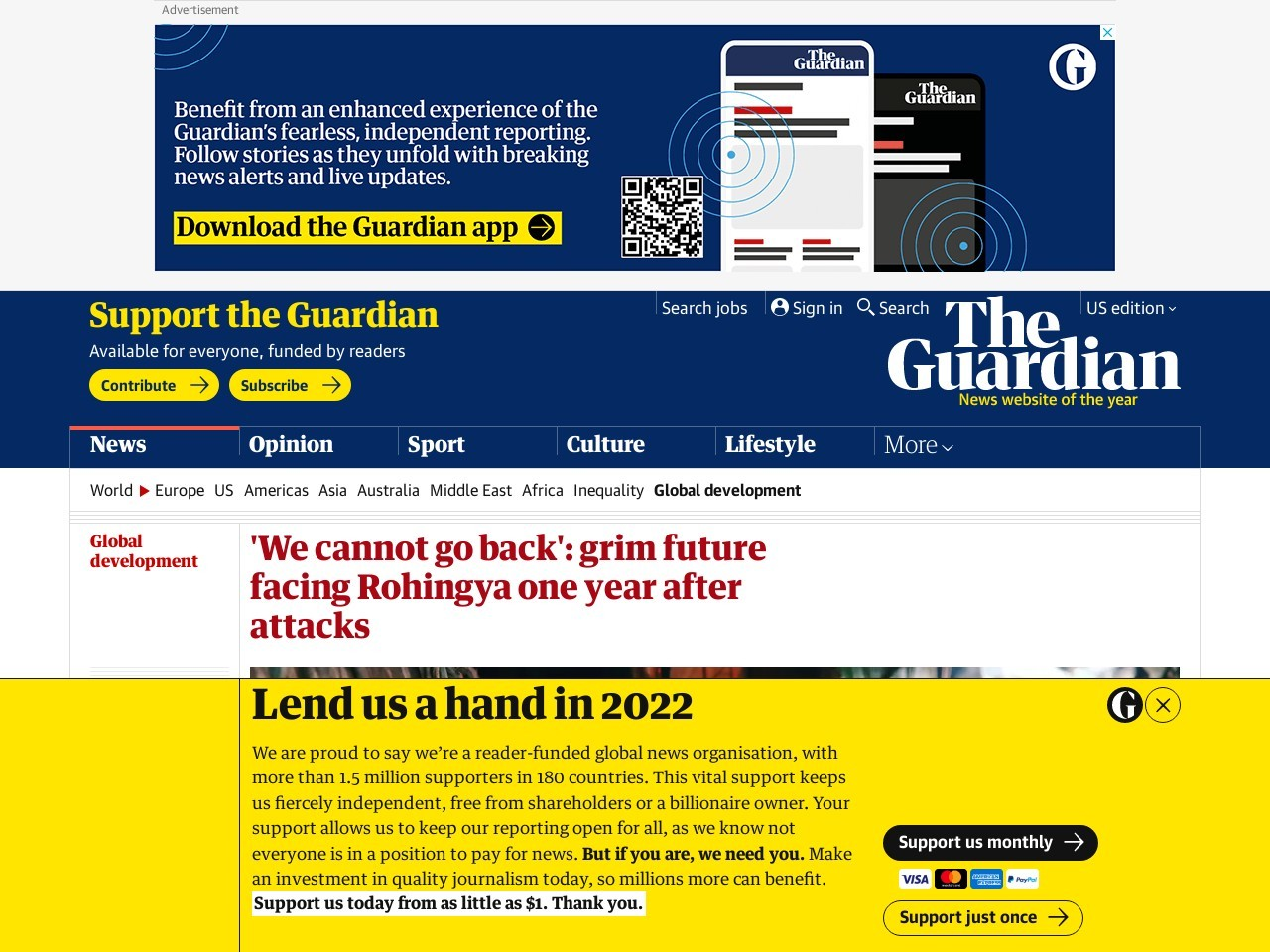 'We cannot go back': grim future facing Rohingya one year after attacks