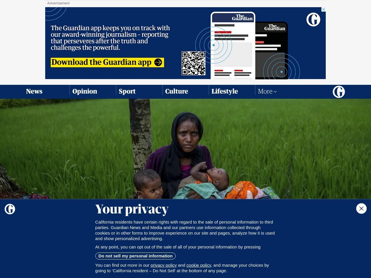 Rohingya Muslims flee ethnic violence in Myanmar – in pictures