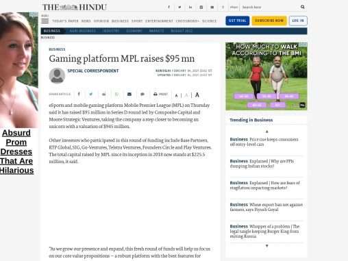 Gaming platform MPL raises $95 mn